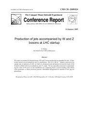 Conference Report - CERN Document Server