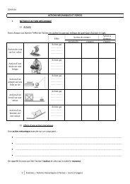 1 Sciences – Actions mécaniques et forces – Cours (3 pages ...