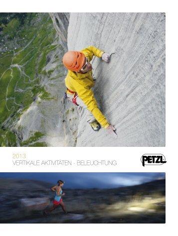 Petzl Online Katalog 2013 Klettern und Bergsteigen