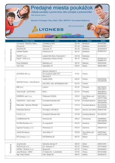 c932c15ed Predajné miesta poukážok - Lyoness
