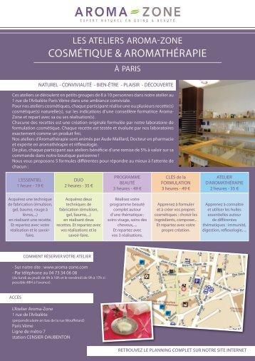 Téléchargez le planning des ateliers au format PDF - Aroma zone