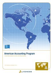 American Accounting Program - Lyoness
