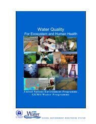 Water Quality For Ecosystems and Human Health