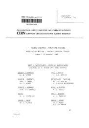 CERN LIBRARIES, GENEVA CM-P00084439 CERN/FC/526 18 ...