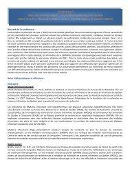 Conférence 7 Vécu des proches aidants : dystrophie myotonique de ...