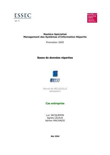 Bases de données réparties Cas entreprise - Le site de Sandy et ...