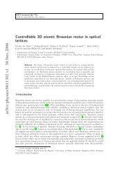 arXiv:physics/0611302 v1 30 Nov 2006