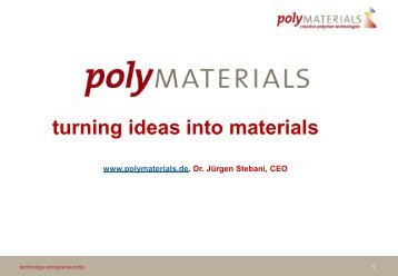 (Polymaterial AG) - 20110126 - Technology Entrepreneurship