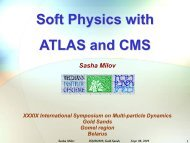 Soft Physics with ATLAS and CMS