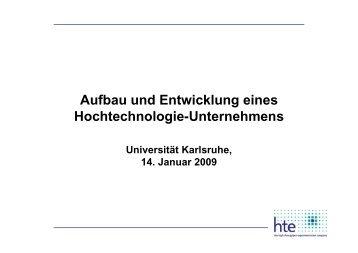 Dr. Wolfram Stichert (hte AG)
