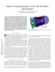 Study of the performance of the ATLAS Muon Spectrometer