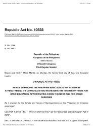 Republic Act No. 10533 - Catholic Educational Association of the ...