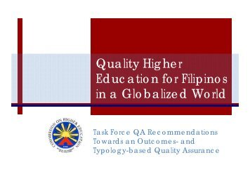 CHED TFQA Recommendations - Catholic Educational Association ...