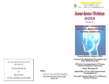 Summer 2013 Seminar Workshops