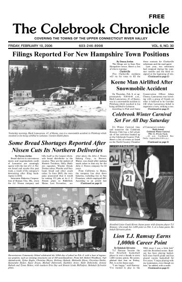 February 10, 2006 - Colebrook Chronicle