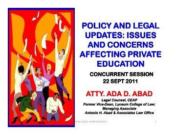CS 10 - Atty. Abad's Presentation - Part 1 - Catholic Educational ...