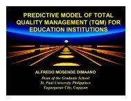 PREDICTIVE MODEL OF TOTAL QUALITY MANAGEMENT (TQM ...