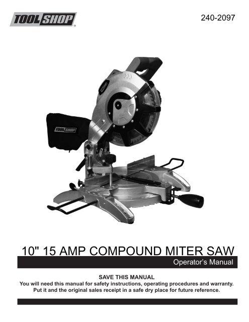 10 inch sliding compound miter saw menards