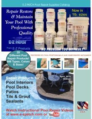Repair Restore & Maintain Your Pool With ... - EZ Products