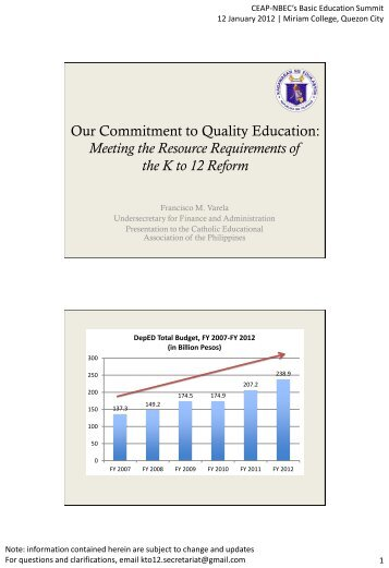 Meeting the Resource Requirements of the K to 12 Reform