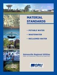 Complete Material Standards Manual - Gainesville Regional Utilities