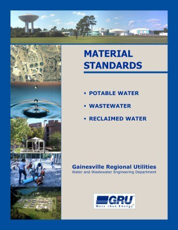 Complete Material Standards Manual - Gainesville Regional Utilities