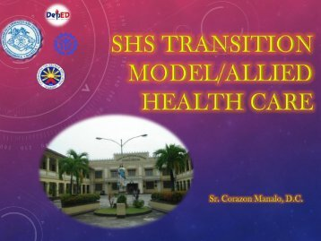 Day 2 - DC Transition Model for Health and Allied Science