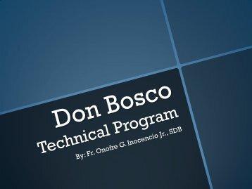 Don Bosco Technical Curriculum_Fr. Onofre Inocencio