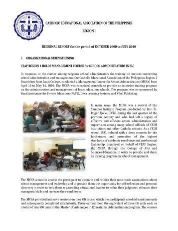 Catholic Educational Association of the Philippines Region