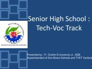 Don Bosco Tech-Voc Track - Catholic Educational Association of the ...