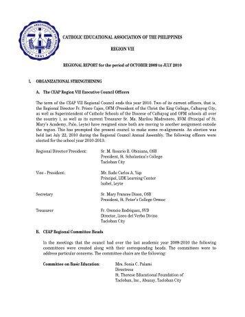 catholic educational association of the philippines region viii