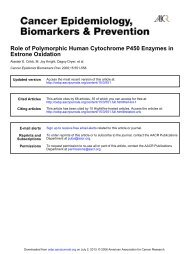 Role of Polymorphic Human Cytochrome P450 Enzymes in Estrone ...