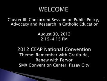 Culture - Catholic Educational Association of the Philippines