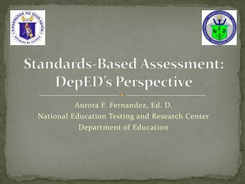 Day 1 - CEAP Standards-based Assesment