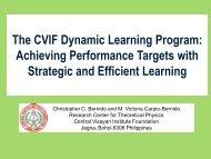 The CVIF Dynamic Learning Program - Catholic Educational ...
