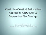 SHS Curriculum Development through Vertical Articulation Approach