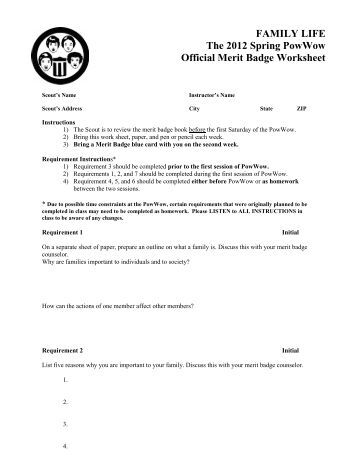 Management Merit Badge Worksheet Answers - Delibertad