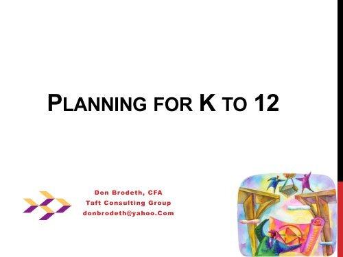 201207 - Planning for K to 12 Don Brodeth