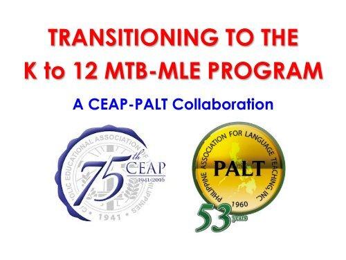 CEAP-PALT MTB-MLE Dr Edizon Fermin Part 1