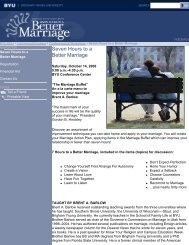 Seven Hours to a Better Marriage - Continuing Education - Brigham ...