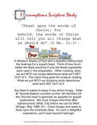 Scrumptious Scripture Study - Brigham Young University