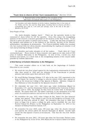 201201 - CBCP Pastoral Letter on the 400 Years of Catholic ...
