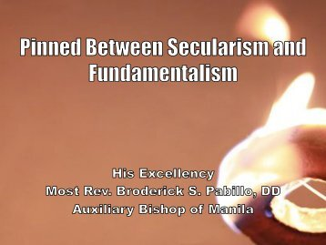 Bp Pabillo's Pinned Between Secularism and Fundamentalism