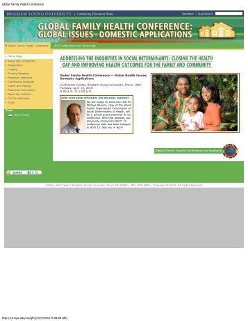 Global Family Health Conference - Continuing Education - Brigham ...