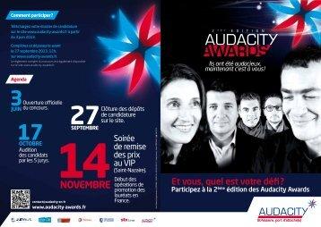 Plaquette Prix - Audacity Saint-Nazaire, port d'attache