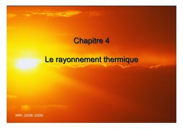 4-cours rayonnement
