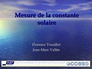 Mesures de la constante solaire - Acces