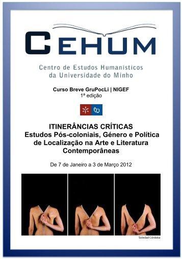 Itinerâncias Críticas - cehum - Universidade do Minho