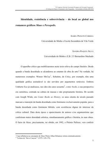 Isabel Peixoto e Sandra Raquel Silva - Universidade do Minho
