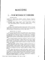 MAKORE - Bois et forêts des tropiques